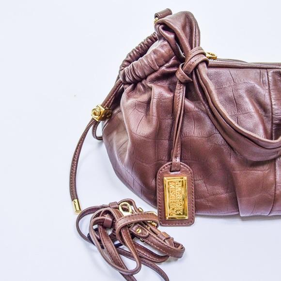 Badgley Mischka Handbags - Badgley Mischka Dark Brown Leather Purse Bag